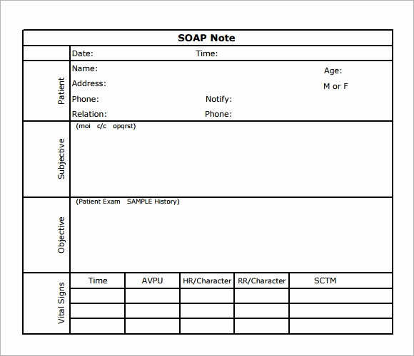 Free soap Note Template Luxury soap Note Template 7 Download Free Documents In Pdf