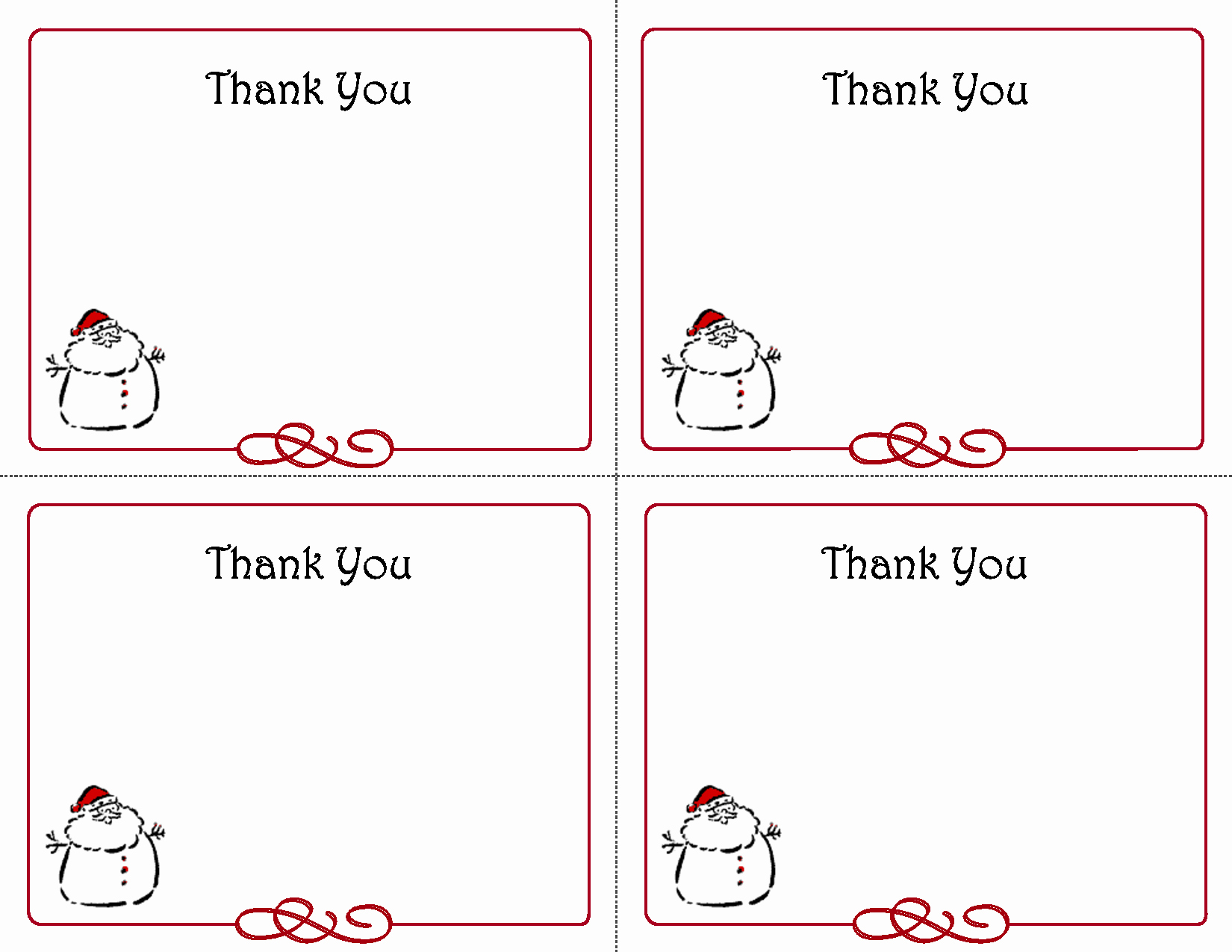 Free Thank You Note Template Awesome 5 Best Of Free Printables Thank You Card Template