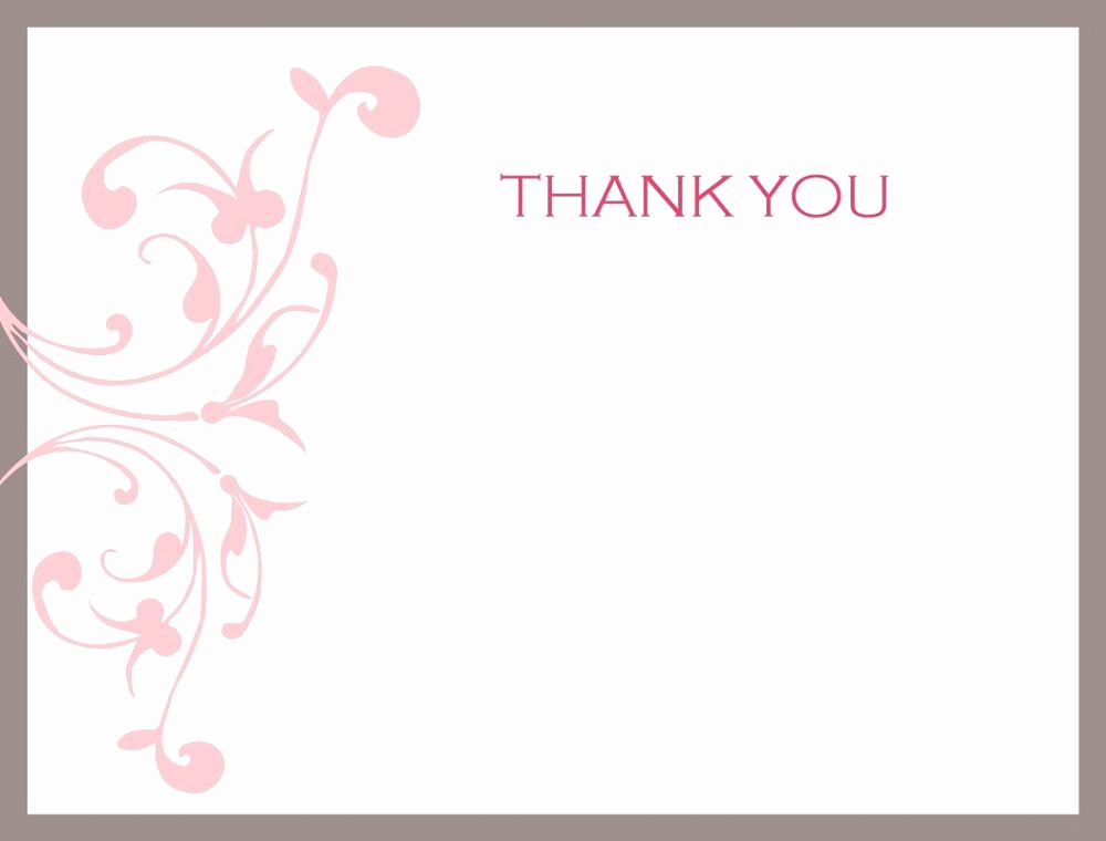 Free Thank You Note Template Fresh Thank You Note Printable
