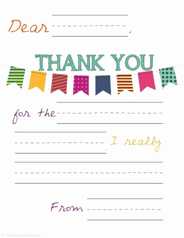 Free Thank You Note Template Inspirational Free Printable Thank You Notes for Kids