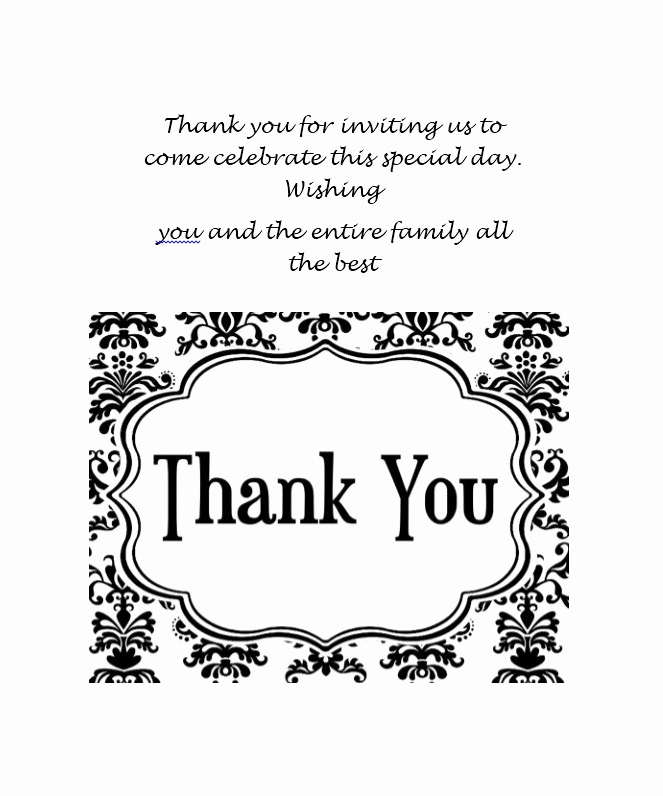 Free Thank You Note Template Lovely 30 Free Printable Thank You Card Templates Wedding
