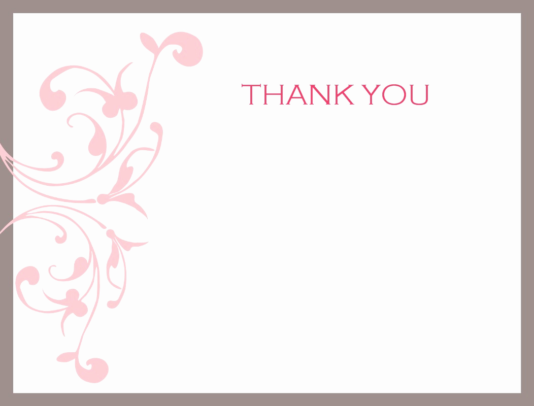 Free Thank You Note Template New Thank You Card Template