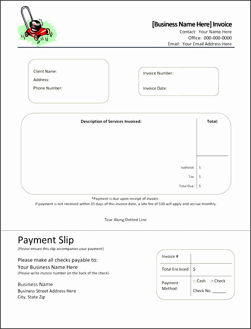Free towing Invoice Template Elegant 8 Printable Service Invoice Template Sampletemplatess