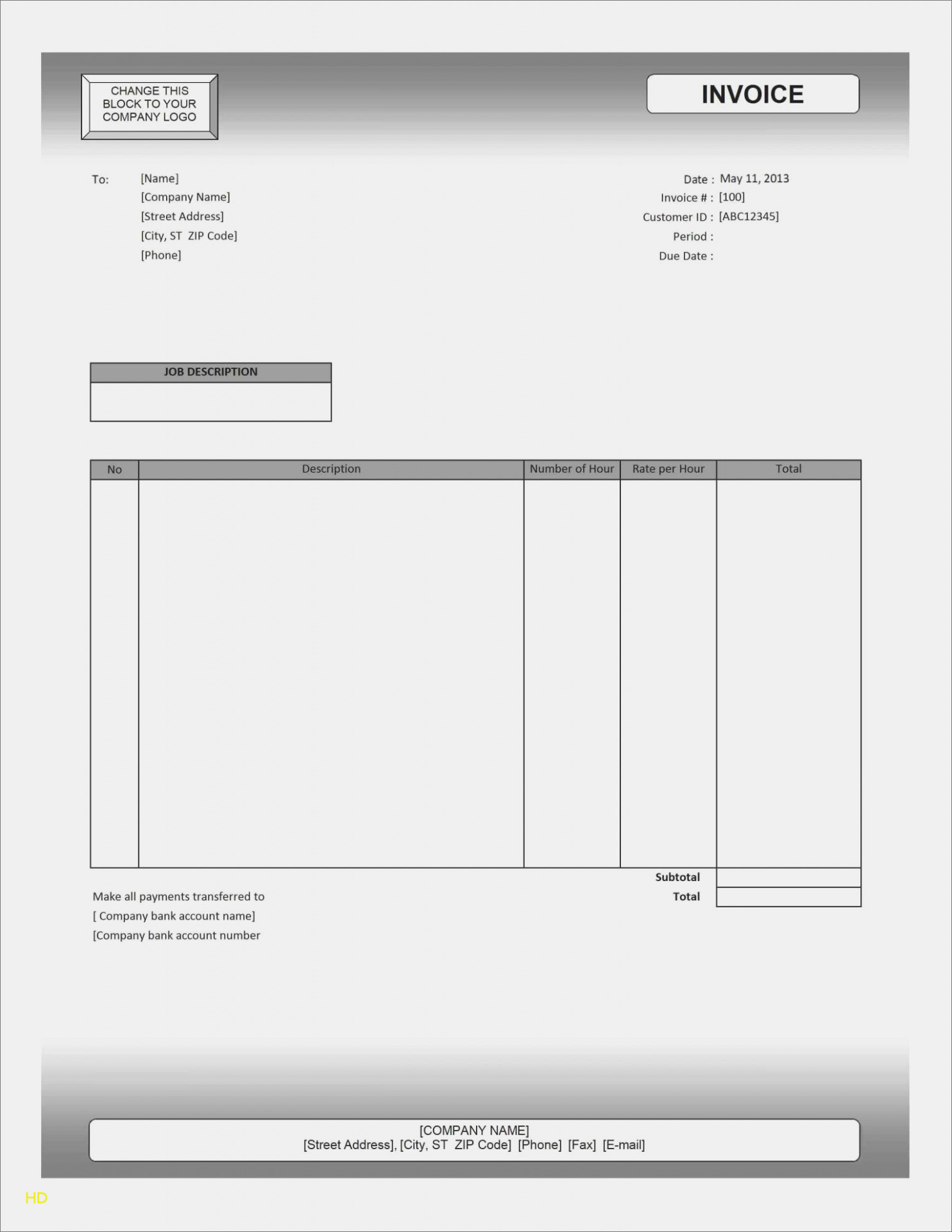Free towing Invoice Template Elegant Blank tow Truck Receipt is
