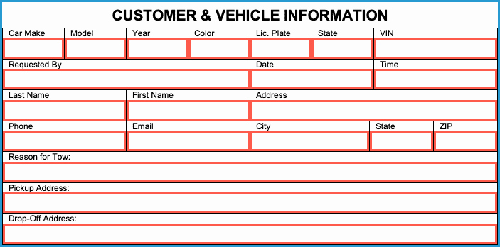 Free towing Invoice Template Unique Free towing Invoice Template Pdf Word