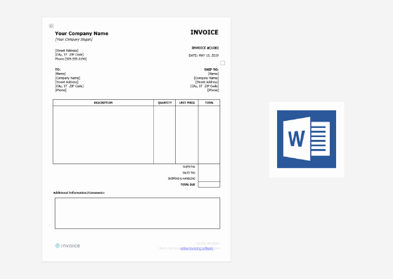 Free Word Invoice Template Best Of Download Free Invoice Templates for Word Excel & Canva
