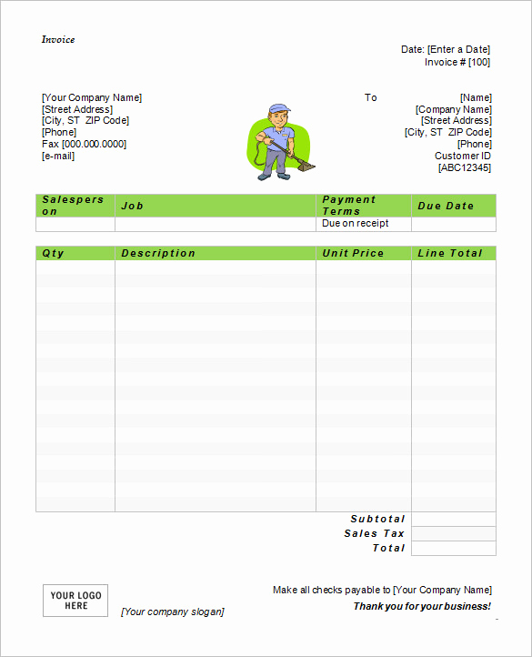 Free Word Invoice Template Fresh 60 Microsoft Invoice Templates Pdf Doc Excel