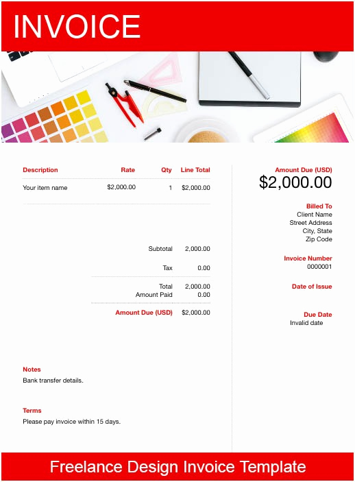Freelance Graphic Design Invoice Template Best Of Freelance Design Invoice Templates Free Download