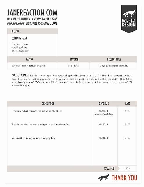 Freelance Graphic Design Invoice Template Luxury Invoice Graphic Design Pinterest