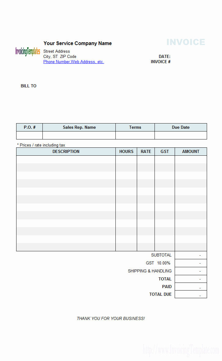Freelance Hourly Invoice Template Luxury Daily Cash Receipt
