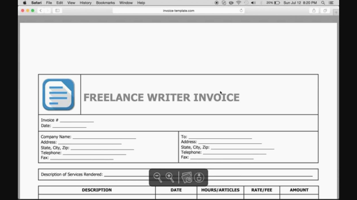 Freelance Writing Invoice Template Awesome You Will Never Believe