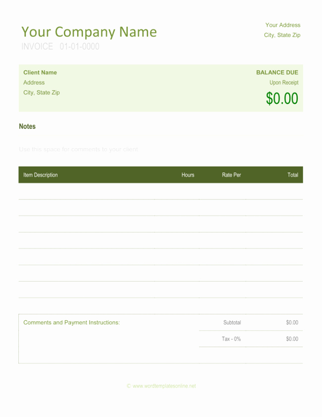 Freelance Writing Invoice Template Inspirational Freelance Invoice Templates 5 Best Free Samples for Word