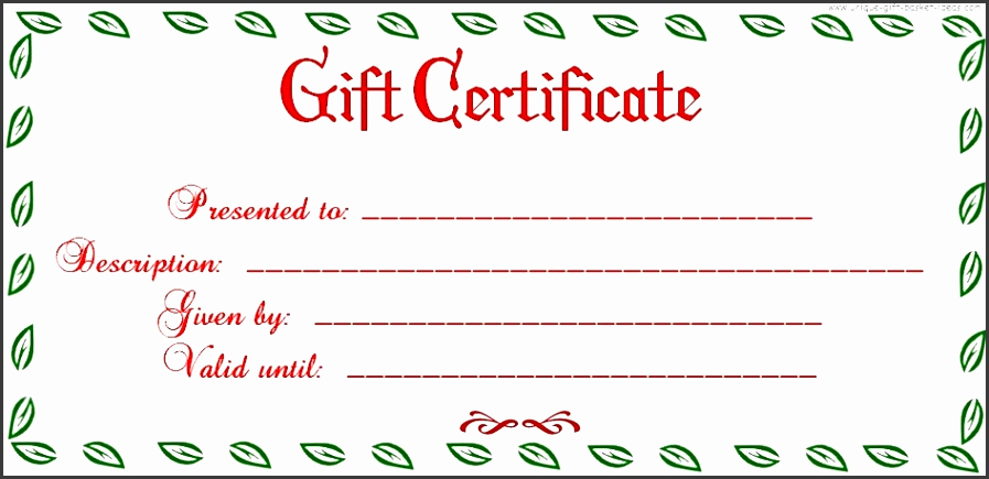 Full Page Gift Certificate Template Best Of 5 Free Printable Christmas Gift Certificates