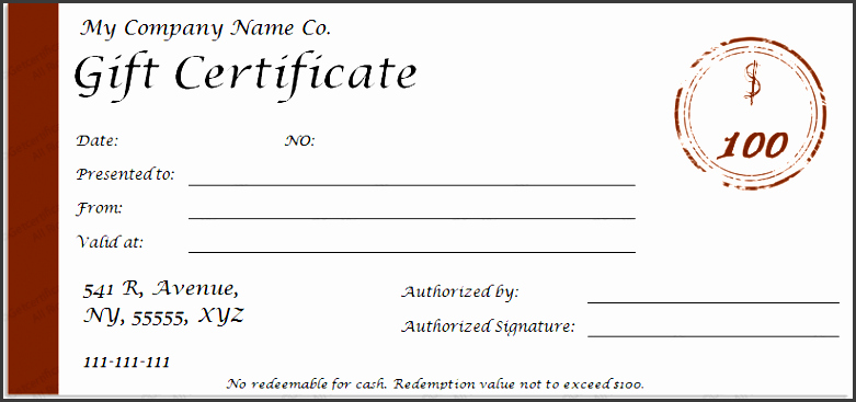 Full Page Gift Certificate Template Best Of 9 Printable Gift Certificate Template Sampletemplatess
