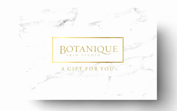Full Page Gift Certificate Template Elegant Pre Made Gift Card Template Spa Gift Certificate Boutique