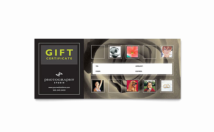 Full Page Gift Certificate Template Inspirational Graphy Studio Gift Certificate Template Design