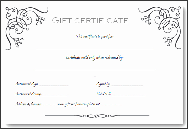 Full Page Gift Certificate Template New 9 Printable Gift Certificate Template Sampletemplatess