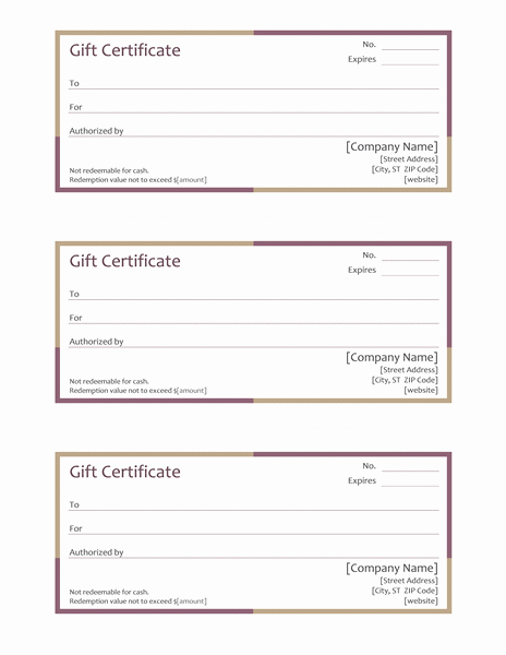 Full Page Gift Certificate Template Unique Download Boundary Free Certificate Templates for Ms Fice