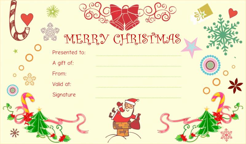 Funny Gift Certificate Template Elegant Christmas Fun Gift Certificate Template
