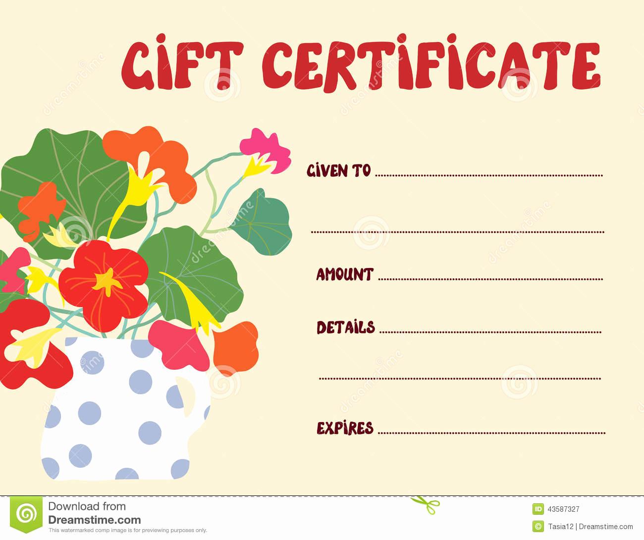 Funny Gift Certificate Template Elegant Gift Certificate Template Funny Design Stock Vector
