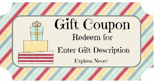 Funny Gift Certificate Template Fresh Birthday Gift Certificate Templates