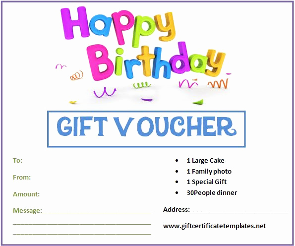 Funny Gift Certificate Template Lovely Birthday Gift Certificate Templates by