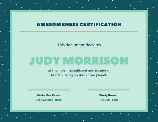 Funny Gift Certificate Template Lovely Customize 45 Funny Certificate Templates Online Canva