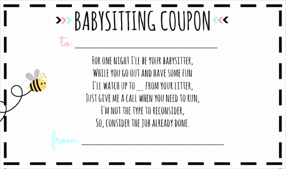 Funny Gift Certificate Template Luxury 13 Babysitting Voucher Templates Psd Ai Indesign