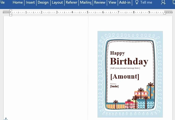Funny Gift Certificate Template Luxury Birthday Gift Certificate Card Template for Word