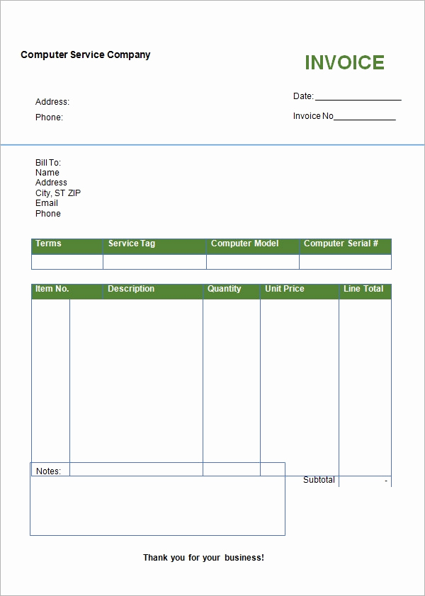 Generic Invoice Template Word Fresh Free 47 Sample Blank Invoice Templates In Word