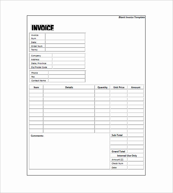 Generic Invoice Template Word Fresh Generic Invoice Template 5 Free Word Excel Pdf format