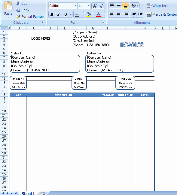 Generic Invoice Template Word New Generic Invoice is Monly Known to Be An Invoice