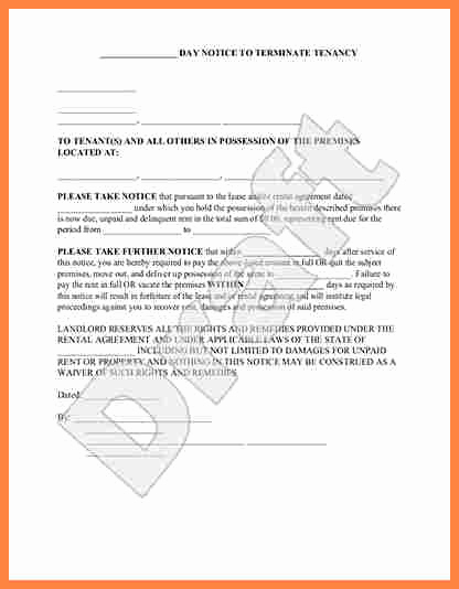 Georgia Eviction Notice Template Awesome 5 Sample Of 30 Day Notice to Vacate