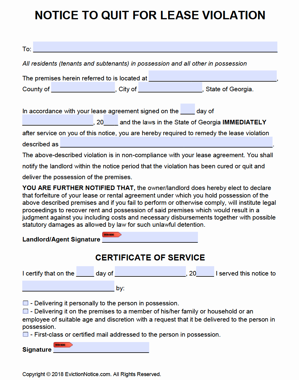 Georgia Eviction Notice Template Best Of Free Georgia Eviction Notice Templates