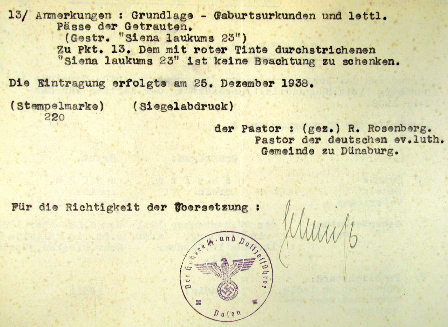German Birth Certificate Template New 1938 German Nazi Ss soldier S Marriage Certificate