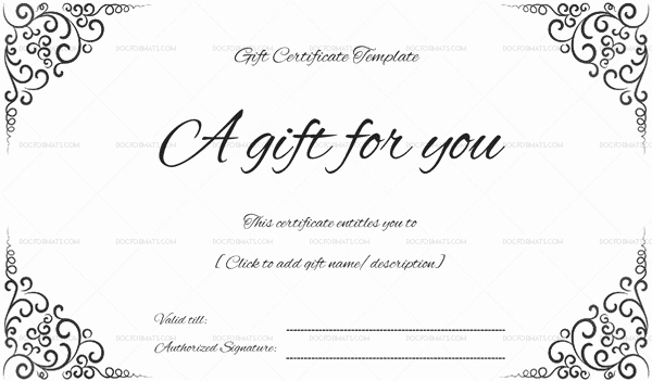 Gift Certificate Template Free Pdf Best Of 44 Free Printable Gift Certificate Templates for Word & Pdf
