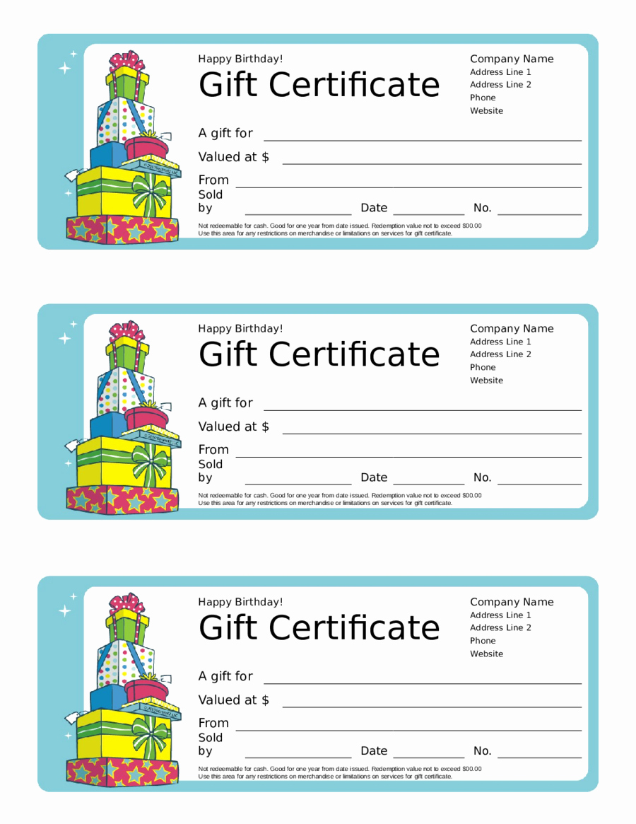 Gift Certificate Template Free Pdf Fresh 2019 Gift Certificate form Fillable Printable Pdf