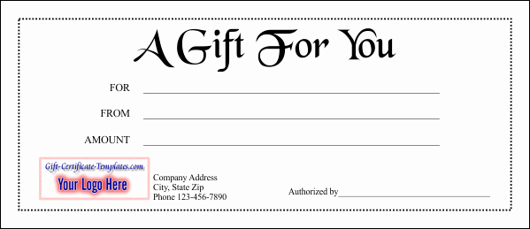 Gift Certificate Template Free Pdf Lovely Gift Certificate Template 1