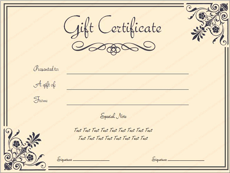 Gift Certificate Template Printable Elegant Tvoucher Ttemplate Tcertificate