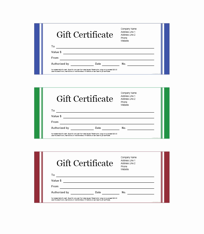 Gift Certificate Template Printable Inspirational 31 Free Certificate Of Appreciation Templates and Letters