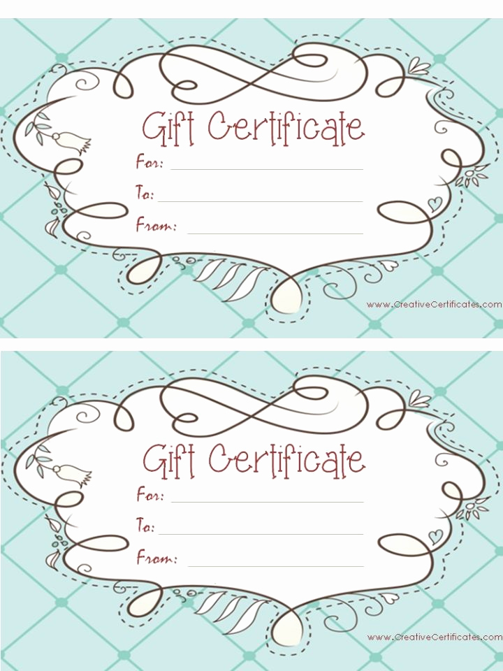Gift Certificate Template Printable Lovely Light Blue T Certificate Template with A Cute Design