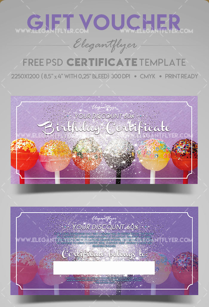 Gift Certificate Template Psd Beautiful 51 Premium & Free Psd Professional Gift Certificates