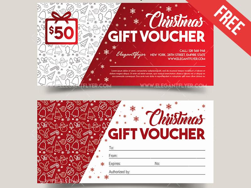 Gift Certificate Template Psd Elegant Christmas V02 – Free Gift Certificate Psd Template by