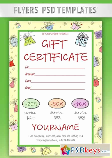 Gift Certificate Template Psd Inspirational Certificate Page 2 Free Download Shop Vector