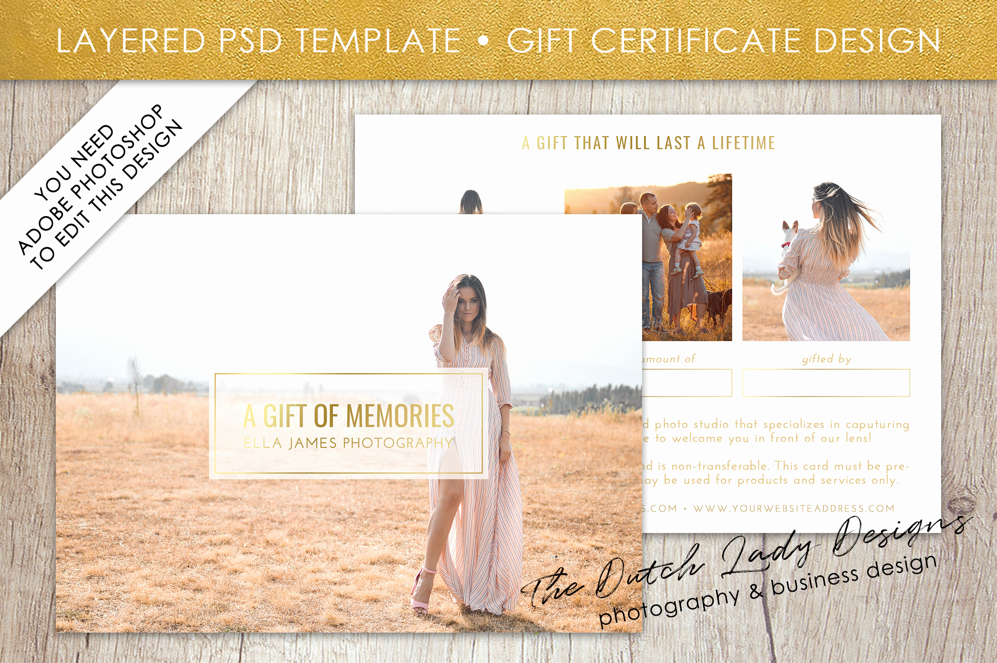 Gift Certificate Template Psd Lovely Gift Card Template for Adobe Shop Layered Psd
