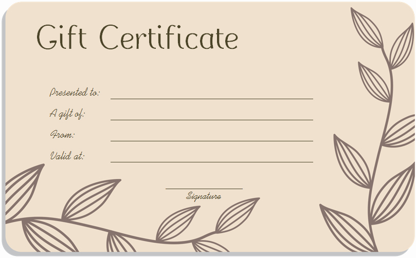 Gift Certificate Template Word Free Awesome Gift Certificate Template