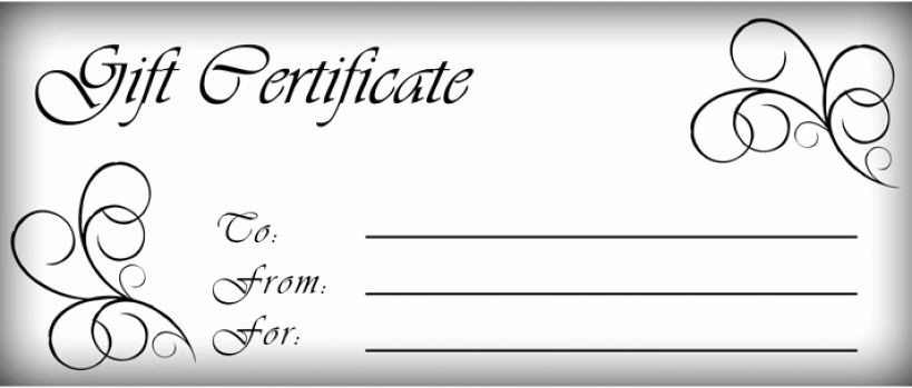 Gift Certificate Template Word Free New T Certificates Templates