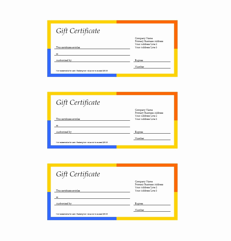 Gift Certificate Template Word Free Unique 31 Free Gift Certificate Templates Template Lab