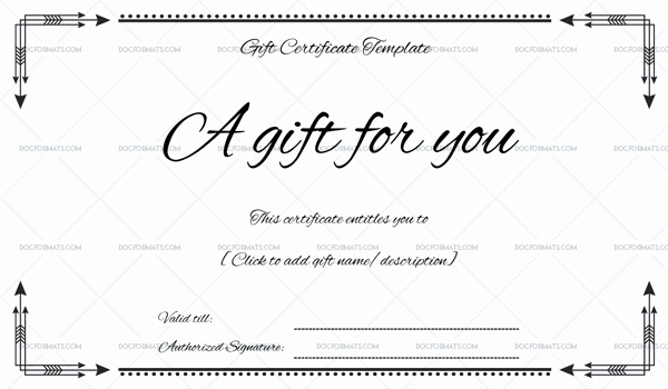 Gift Certificate Template Word Free Unique Business Gift Certificate for Microsoft Word