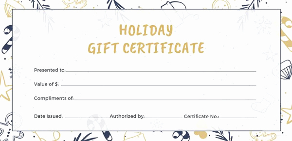 Google Docs Gift Certificate Template Lovely 11 Travel Gift Certificate Templates Free Sample